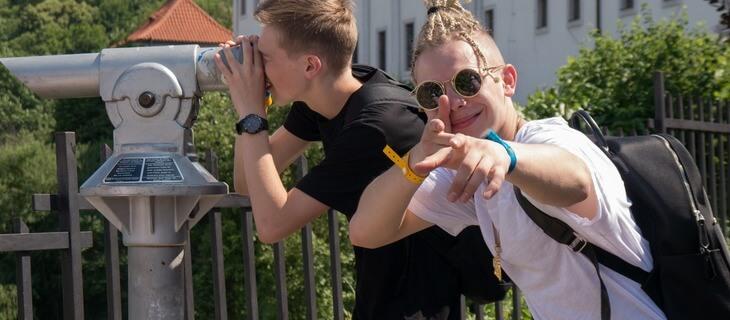 студенты на экскурсии в ческом-курмлове eurostudy.cz