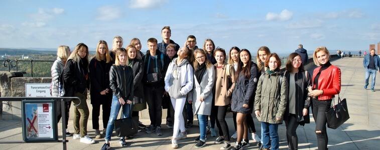 студенты МСМ в Сакнсонской Швейцарии eurostudy